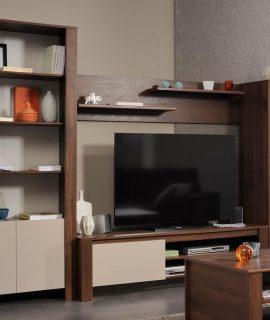Tv-meubel Set TIAMO Walnoot Brazil/mastiek