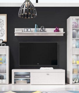 Tv-meubel Set CANNES 4 Deuren En 2 Lades Dennenhout Andersen