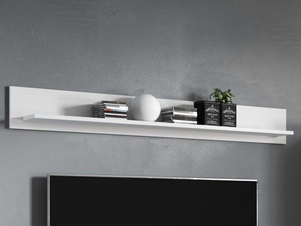 Wandplank TORERO hoogglans wit