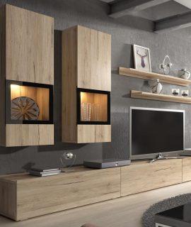 Tv-meubel Set BABEL 5 Deuren Sanremo Met Verlichting