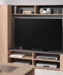 Tv-meubel Set FUEGO 1 Deur Ruwe Eik/beton