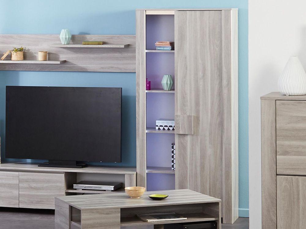 boekenkast walter 1 deur grijze eik