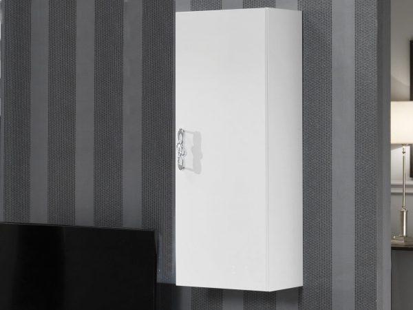 Wandkast ANTONIA 1 deur hoogglans wit