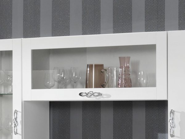 Wandkast ANTONIA 1 glazen klapdeur hoogglans wit