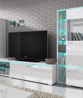 Tv-meubel Set ANIMAL 3 Deuren Wit Met Verlichting