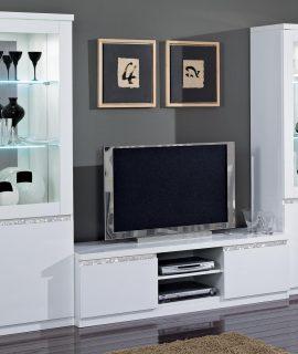 Tv-meubel Set REBECCA Hoogglans Wit Zonder Verlichting