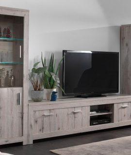 Tv-meubel Set POSEIDON 7 Deuren Grijze Eik