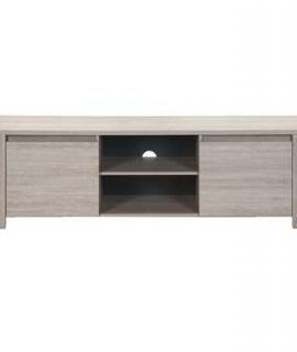 TV-meubel Yannick – Grijs Eikenkleur – 51x181x51 Cm