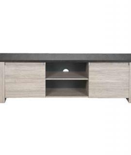 TV-meubel Yannick – Grijs Eiken/natuursteen – 51x181x51 Cm