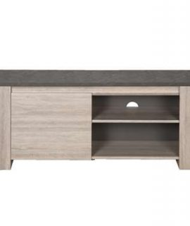 TV-meubel Yannick – Grijs Eiken/natuursteen – 51x130x51 Cm