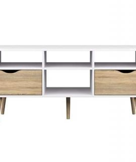 TV-meubel Delta 6-vaks – Wit – 57,4×117,1×39 Cm