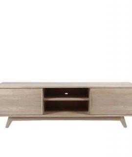 TV-meubel Lundo – Wit Eiken – 55x180x44 Cm