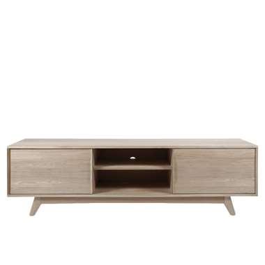TV-meubel Lundo - wit eiken - 55x180x44 cm