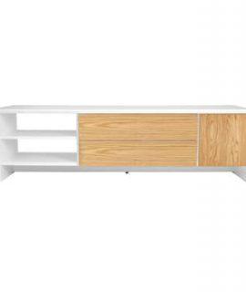 Tenzo TV-meubel Profil – Wit/eiken – 44x150x47 Cm