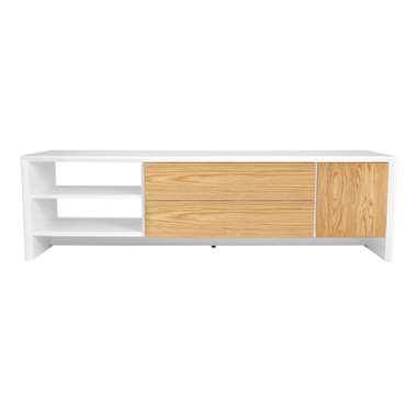 Tenzo TV-meubel Profil - wit/eiken - 44x150x47 cm