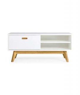 Tenzo TV-meubel Bess – Wit/eiken – 50x114x43 Cm