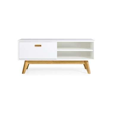 Tenzo TV-meubel Bess - wit/eiken - 50x114x43 cm