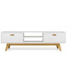 Tenzo TV-meubel Bess – Wit/eiken – 50x170x43 Cm