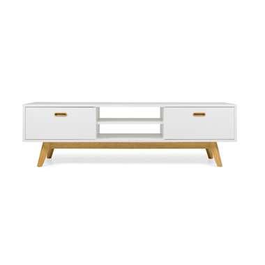 Tenzo TV-meubel Bess - wit/eiken - 50x170x43 cm