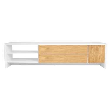 Tenzo TV-meubel Profil - wit/eiken - 44x180x47 cm