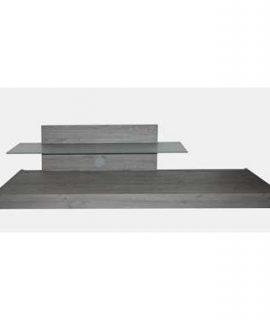TV-meubel Mestre – Grijs – 51x200x51 Cm