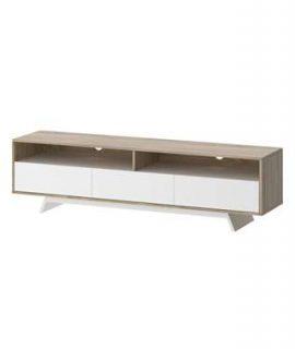 TV-meubel Uldum – Wit/eikenkleur – 45,9×172,6×40,3 Cm