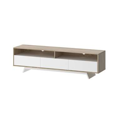 TV-meubel Uldum - wit/eikenkleur - 45