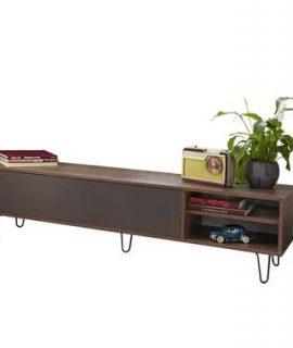 Symbiosis TV-meubel Lardal – Walnootkleur/grijs – 43,5x165x40 Cm