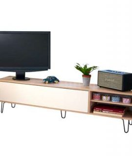 Symbiosis TV-meubel Lardal – Eikenkleur/wit – 43,5x165x40 Cm
