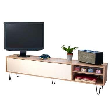 Symbiosis TV-meubel Lardal - eikenkleur/wit - 43