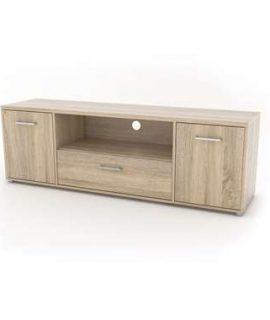 TV-meubel Uldum – Eikenkleur – 50,9×155,6×39,1 Cm