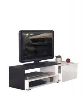 Symbiosis TV-meubel Astrup – Wit/zwart – 32x120x42 Cm