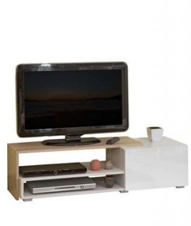Symbiosis TV-meubel Astrup – Wit/eiken – 32x120x42 Cm