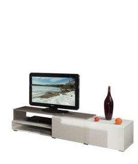 Symbiosis TV-meubel Mosjberg – Wit/taupe – 32x168x42 Cm