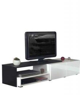 Symbiosis TV-meubel Mosjberg – Wit/betongrijs – 32x168x42 Cm