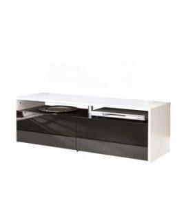 Symbiosis TV-meubel Dalane – Wit/zwart – 37×119,4×40 Cm