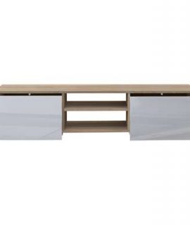 Symbiosis TV-meubel Borhaug – Wit/eikenkleur – 31x140x42 Cm