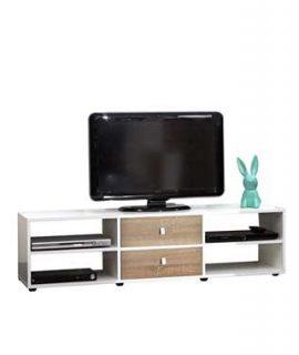 Symbiosis TV-meubel Kviljo – Wit/eikenkleur – 37,2×148,5×40 Cm