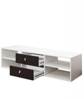 Symbiosis TV-meubel Kviljo – Wit/zwart – 37,2×148,5×40 Cm