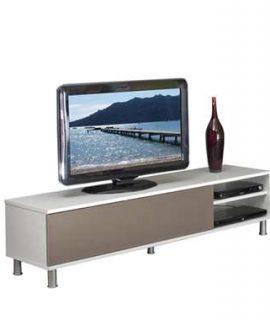 Symbiosis TV-meubel Buholen – Wit/taupe – 37x165x40 Cm