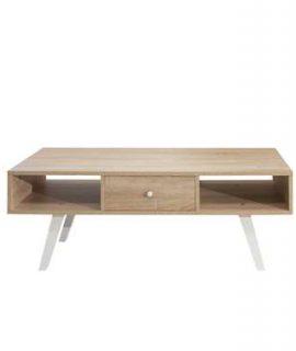Symbiosis TV-meubel Sindal – Eikenkleur/wit – 42,4x117x40 Cm