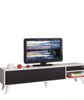 Symbiosis TV-meubel Heidal – Wit/zwart – 43,2x165x40 Cm