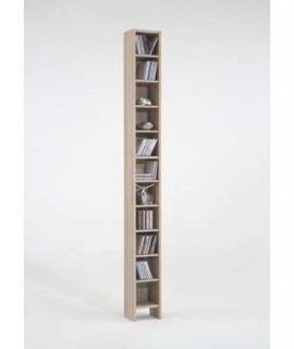 CD/DVD-kast Hallo – Eikenkleur – 185×19,5×16,5 Cm