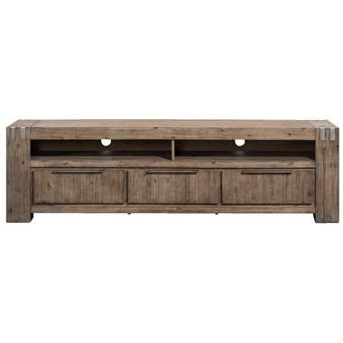 TV-meubel Ilan - grijs - 58x200x45 cm