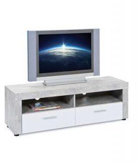 TV-meubel Tisvilde – Grijs/wit – 42x134x43 Cm
