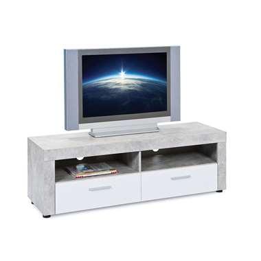 TV-meubel Tisvilde - grijs/wit - 42x134x43 cm