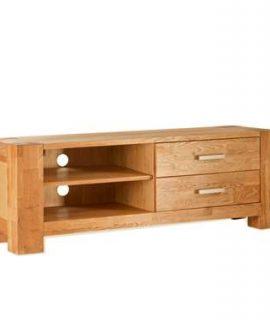 TV-meubel Wouter 2 Lades – Eikenkleur – 47x133x44 Cm
