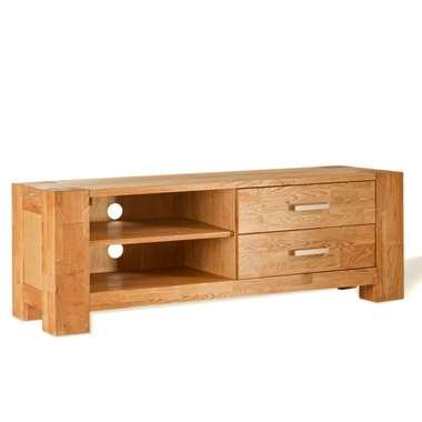 TV-meubel Wouter 2 lades - eikenkleur - 47x133x44 cm