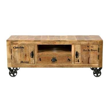 TV-meubel Guus - bruin - 55x140x40 cm