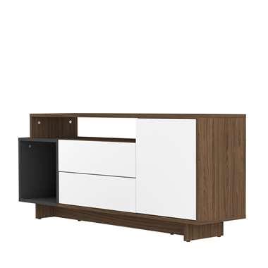 Symbiosis TV-meubel Kube - walnootkleur/grijs - 59